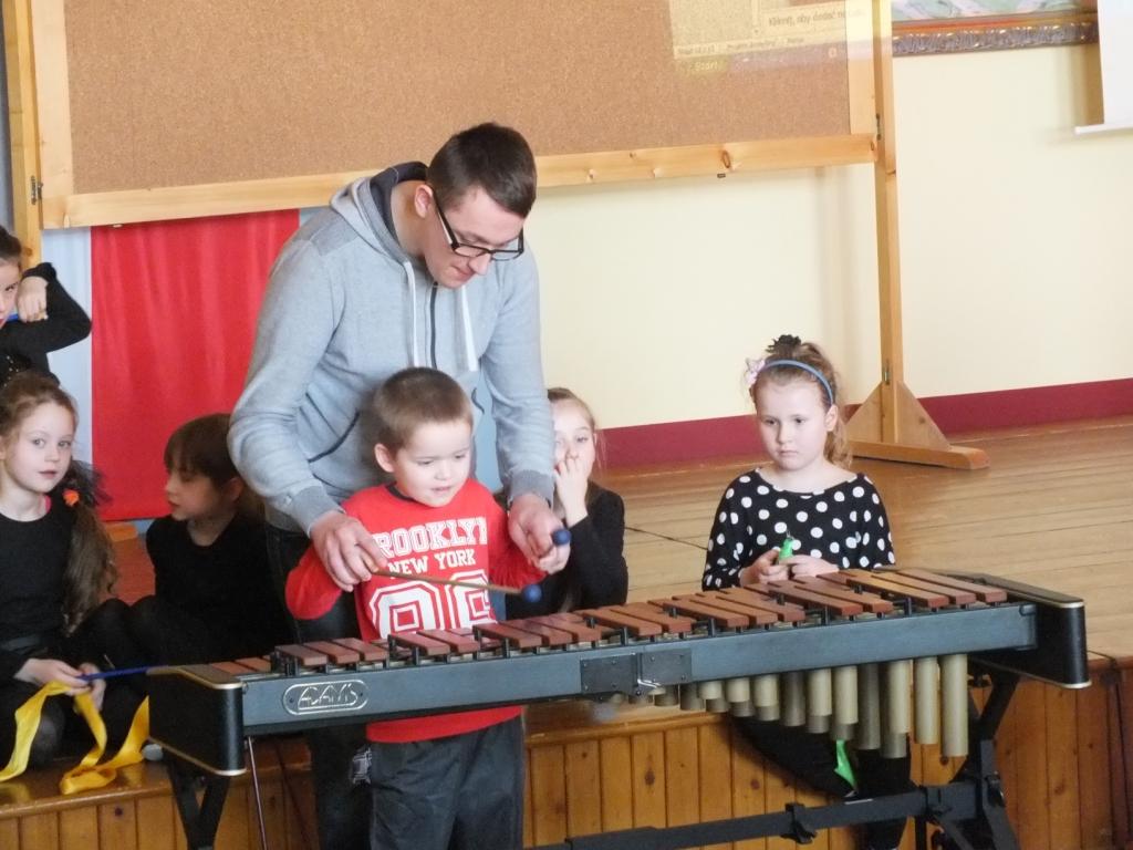 Przedszkolaki z wizytą w Szkole Muzycznej w Żegocinie