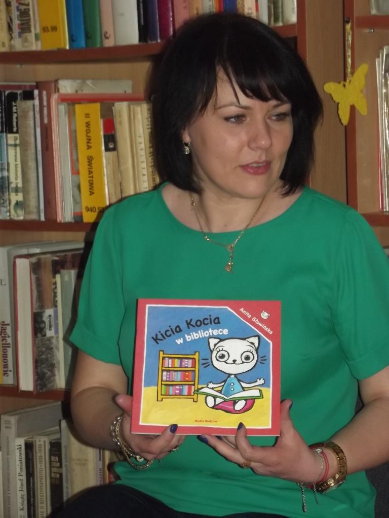Czytelnicze spotkanie z Panią Kasią w bibliotece