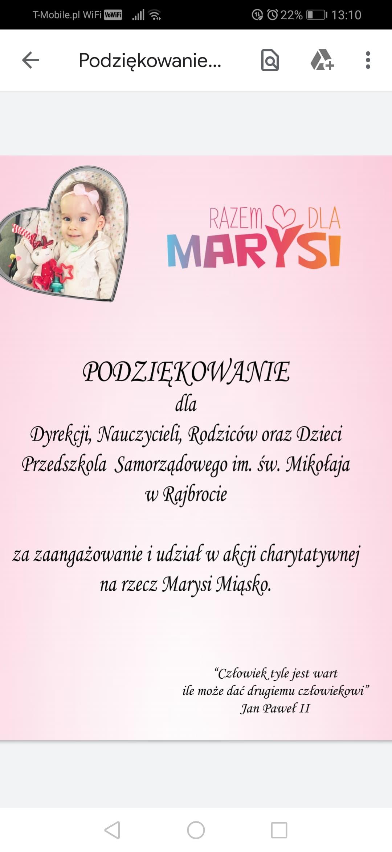 Razem dla Marysi – podsumowanie akcji
